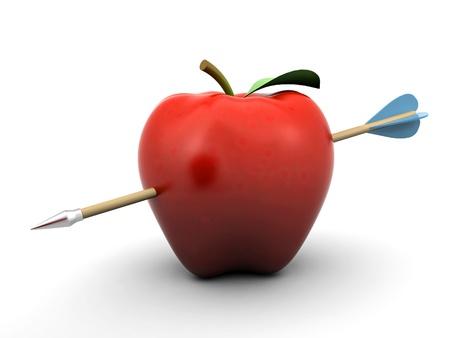 durchbohrten Apfel Lizenzfreie Bilder