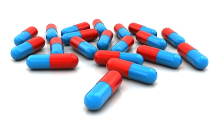 pills 3d Stock Photo