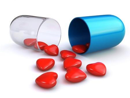 love pill Standard-Bild