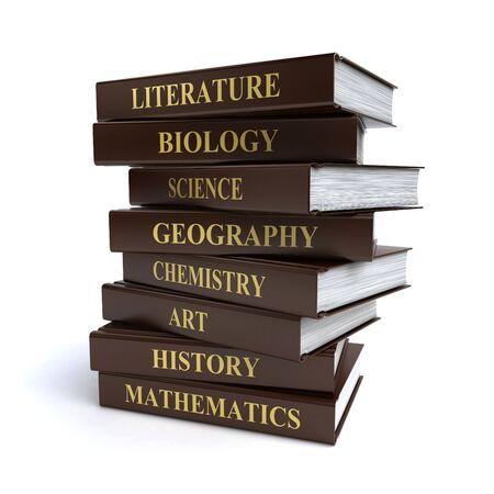 school books Standard-Bild