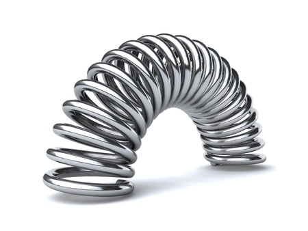 elastic: metal spring Stock Photo