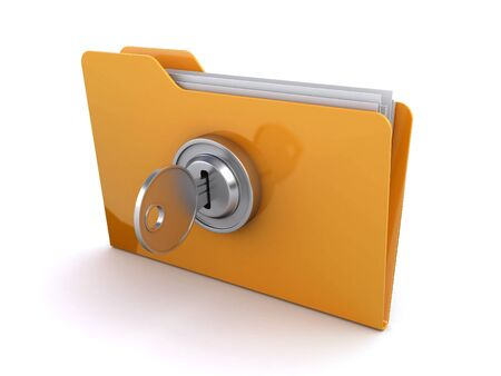 unlock: locked folder Stock Photo