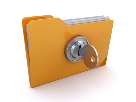locked folder Stock Photo - 14027998