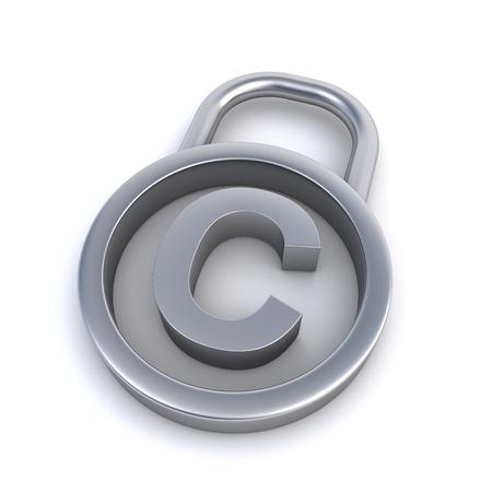 copyright sign padlock