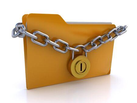 locked folder Stock Photo - 14250376