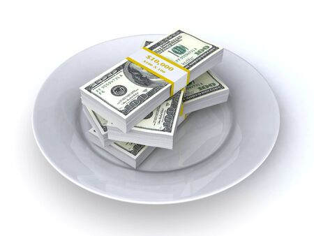 money on the plate photo