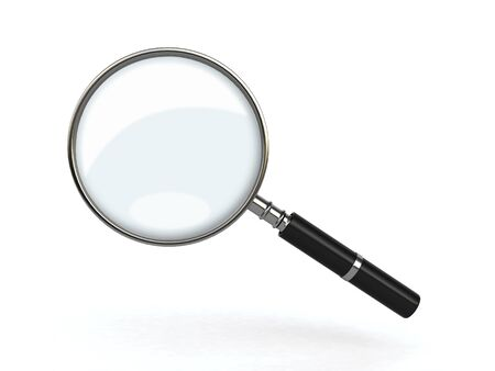 magnified: magnifying glass Stock Photo
