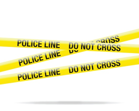 police tape: police line tape Illustration