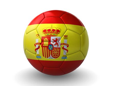 3d ball: spanish soccer ball