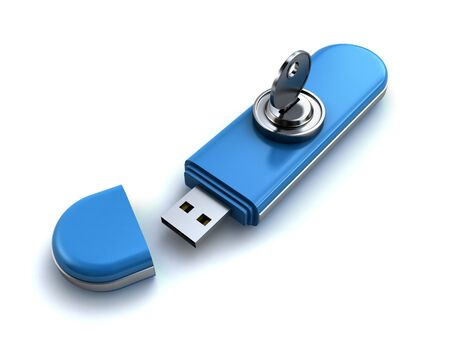 locked usb flash Stock Photo - 15875792