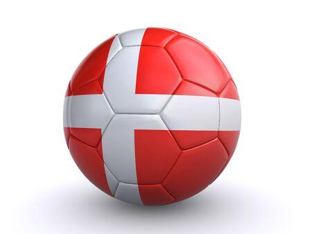 danish soccer ball Stock Photo