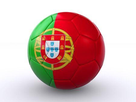 drapeau portugal: portugais ballon de soccer Banque d'images