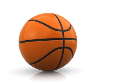 basketball over the white background photo