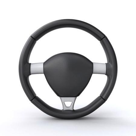 3d rendering wheel: car steering wheel