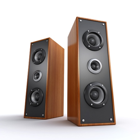 party system: powerful wooden speakers