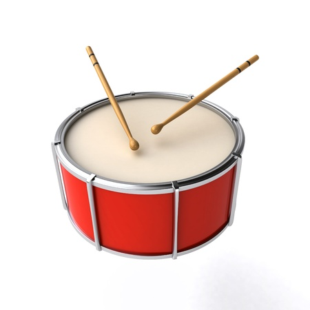 annoucement: drum with sticks Stock Photo