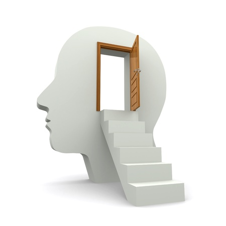 open mind: inside your mind Stock Photo