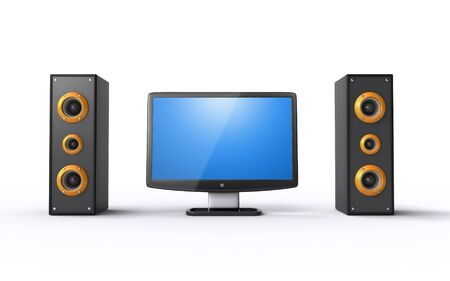 lcd tv and speakers photo