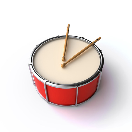annoucement: drum and sticks Stock Photo