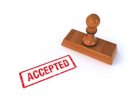 stamp accepted Stock Photo - 29685665