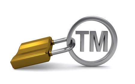 trademark sign and padlock photo