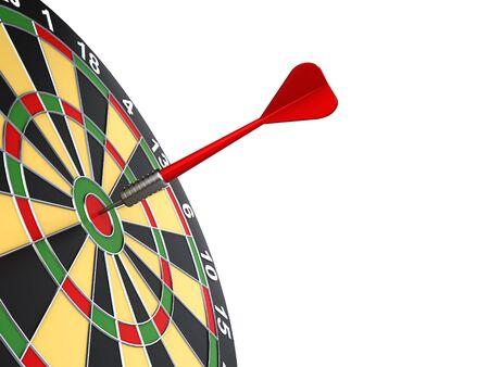 bullseye: dart on target Stock Photo