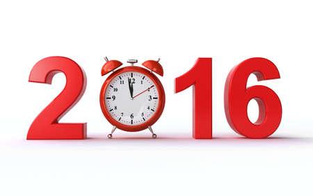 clock: new year 2016