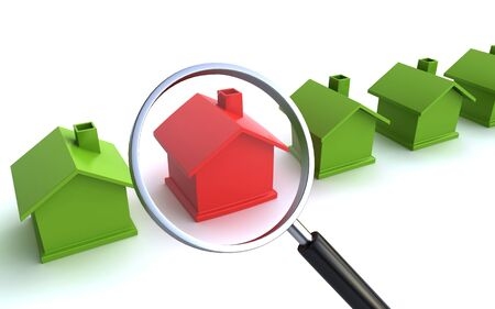 real estate search Stock Photo
