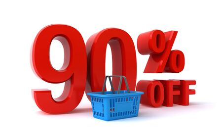 90: 90 percent discount Stock Photo