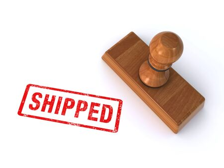 shipped: stamp shipped
