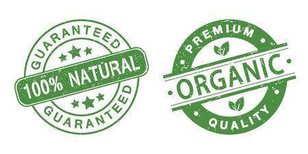 nutritive: grunge organic stamps Illustration