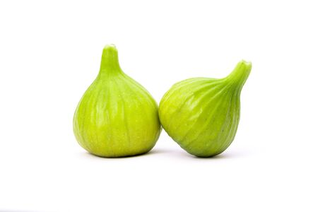 Green figs isolated on a white background