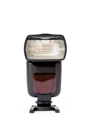 Digital camera flash isolated on the white background Stock Photo