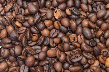 Coffee beans as abackground, close up