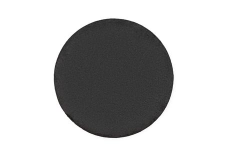 Black round chalkboard on white background Reklamní fotografie
