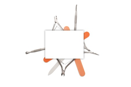 Manicure tools isolated on a white background. Reklamní fotografie