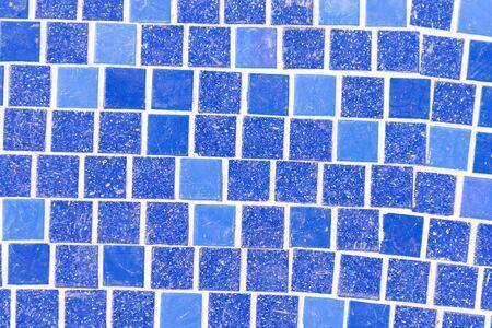 Blue pool tile as a background, close up Reklamní fotografie