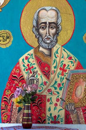 Icon of Saint in Orthodox church
