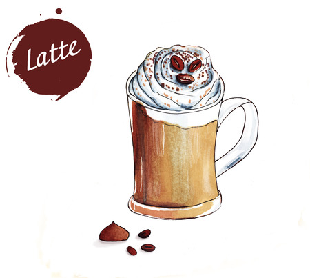 cup of latte 写真素材