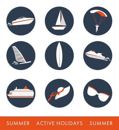 Icon set of activities