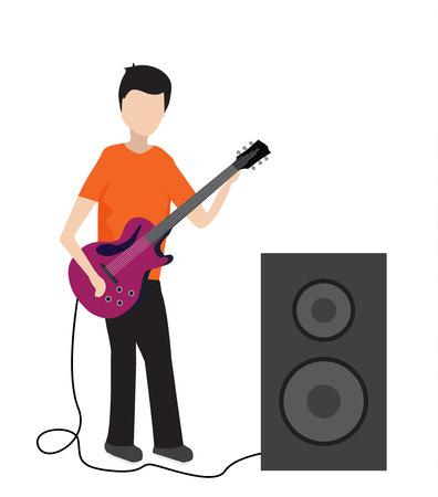 musician play on  electric guita Archivio Fotografico - 105626812