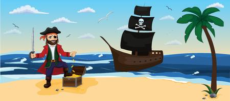 Pirate. Children vector illustration