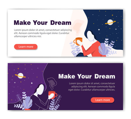 Web banners design template