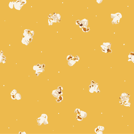 Cute buttered popcorn snacky seamless pattern for movie lovers & movie watching nights :)