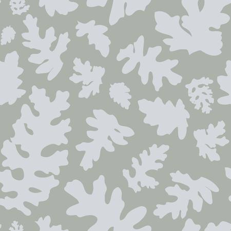 Silver brocade sage seamless illustrated pattern. Nature inspired leafy art for fabrics, gift wrapping, stationery, kids, party and interior design. Illustration