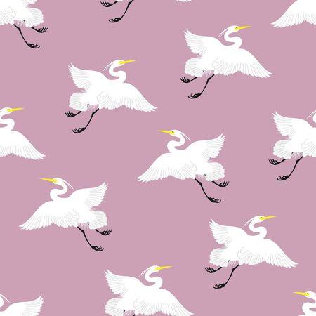 Japanese Good Luck Cranes Pop Art Long Life Festive Pattern