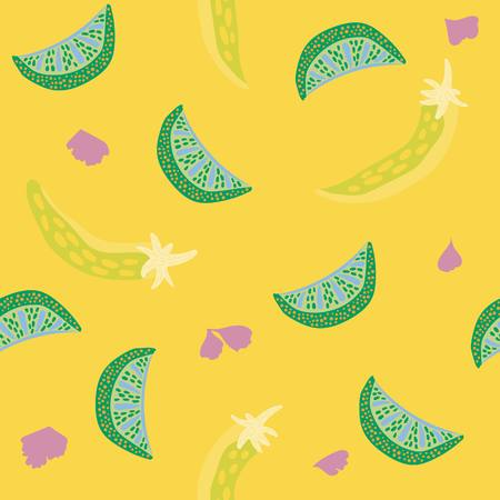 Taco inspired pop art seamless illustrated pattern! Tasty & colorful print perfect for restaurants, parties, fabrics, stationery, and more! Ilustrace