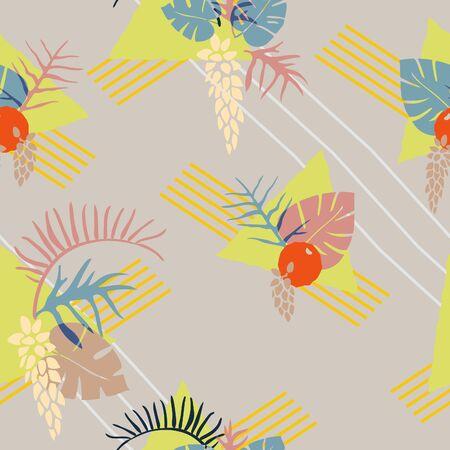 Subtle retro-inspired tropical fashion print.