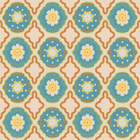 Moroccan Tiles Abstract Architectural Spring/Summer/Fall Pattern