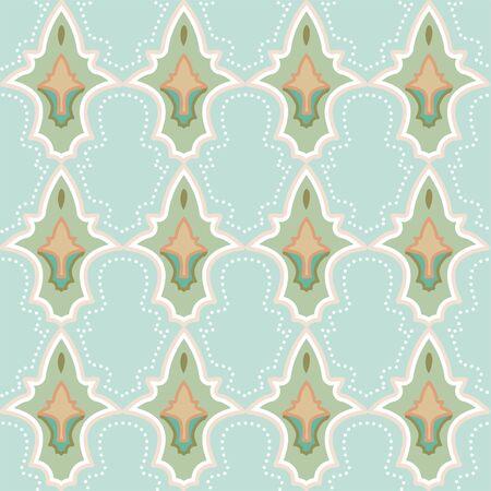 Moroccan Tiles Abstract Architectural Spring Pattern Illusztráció